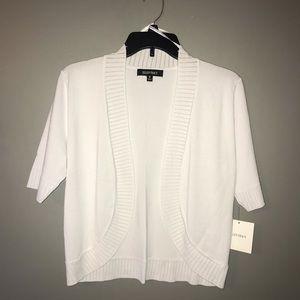 Ellen Tracy NWT Woman's White Sweater Size M